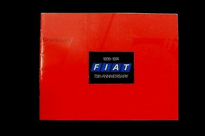 1899-1974 75th Anniversary Fiat Sports Cars Brochure Booklet