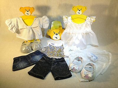 Build A Bear White And Silver Collection Small Bundle