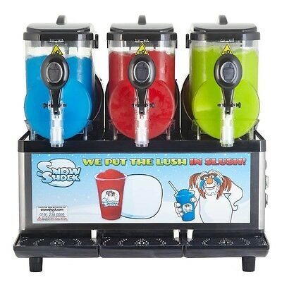 Snowshock Triple Tank Slush Machine (Excellent Condition) With Stock Worth £500