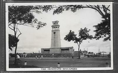 Singapore Photo Postcard Of The Cenotaph.