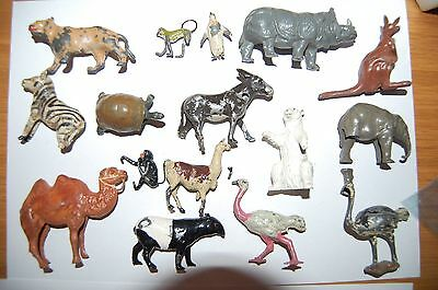Job Lot Of Britains And Other Makes Lead Zoo Animals     3