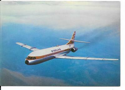 Airline issue postcard-Sterling Denmark Caravelle Super B aircraft