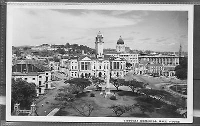 Singapore Photo Postcard Of Victoria Memorial Hall.