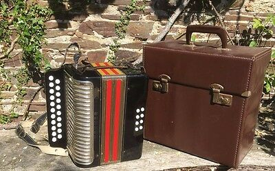 Hohner Erica Melodeon in D/G in excellent working order, with case.