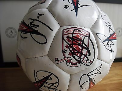 middlesbrough football club signed ball and signed official annual 2008