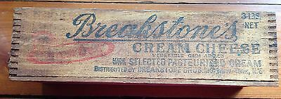 Vintage Breakstone Dovetailed Wood Cream Cheese Box-Cow Logo; Price Reduced
