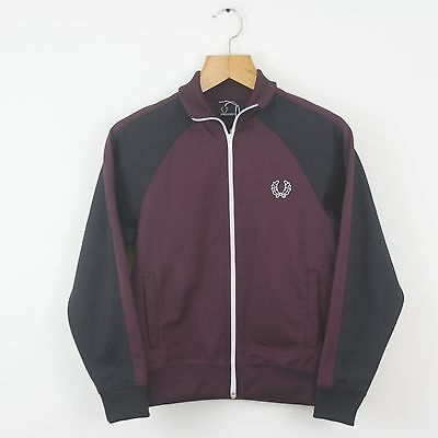 Vintage Women's FRED PERRY Purple Tracksuit Top Jacket | Retro Classic | Size 8