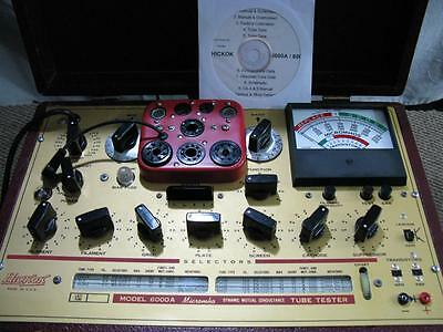 Hickok 6000A Mutual Conductance Tube Tester - Calibrated - Voltages Near Perfect