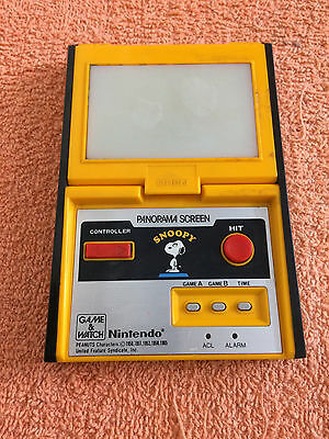 Nintendo Game And Watch Snoopy Sm-91 Panorama Screen Vintage Handheld Game