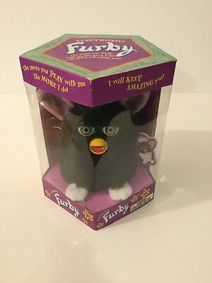 1998 Electronic Tiger Talking Black Furby Model 70-800 Brand New