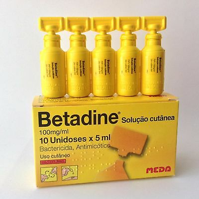 5ml Pods Betadine First Aid Skin Cleanser Antiseptic Solution Povidone Iodine