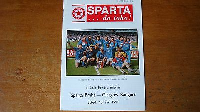 Sparta Prague V Glasgow Rangers Sep 1991