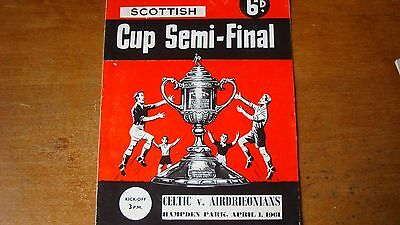 CELTIC V AIRDRIEONIANS APR 1961 (Scottish Cup semi-final)