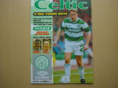Celtic V Bsc Young Boys Sep 1993