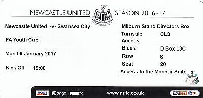 Ticket - Manchester United Youth v Southampton Youth 12.12.16 FA Youth Cup