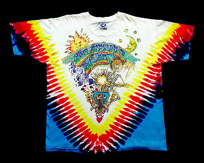 Grateful Dead Shirt T Shirt Vintage 1992 Summer Tour Skeleton Band Tie Dye XL