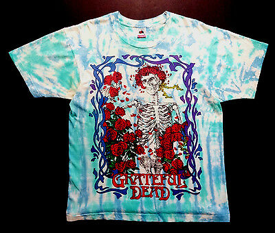 Grateful Dead Shirt T Shirt Vintage 1990 Mouse Kelley Bertha 25th Tie Dye GDM L