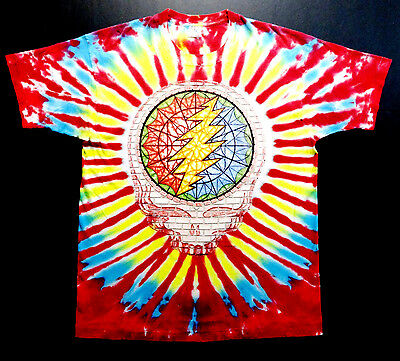 Grateful Dead Shirt T Shirt Vintage 1994 Tour Summer Stained Glass Tie Dye GD XL