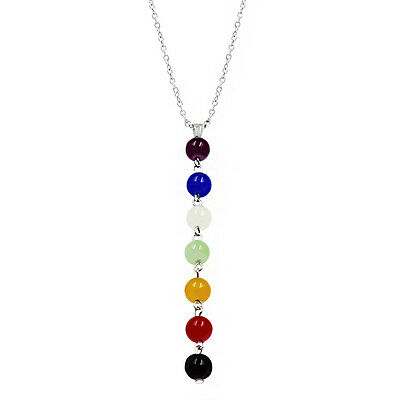 Women's Fashion Colorful Beads Summer Fresh Thin Chain Long Charm Necklace Jewel