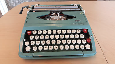 1960s/early '70s teal Smith Corona (SCM) Corsair--works well! Made in England