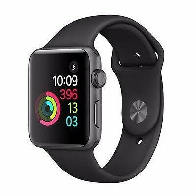 Apple Watch Series 2 42mm Aluminum Case Black Sport Band - (MP062LL/A)BRAND NEW!