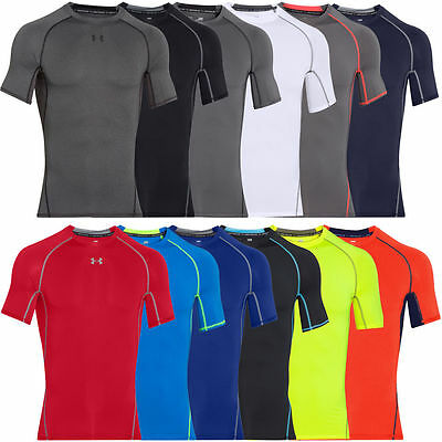Under Armour Heatgear ARMOUR Compression Short Sleeve T-Shirt  Base Layer  New.