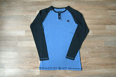 Varde Norway Merino Silk Blue Baselayer Longsleeve Mens 2Xl Xxl