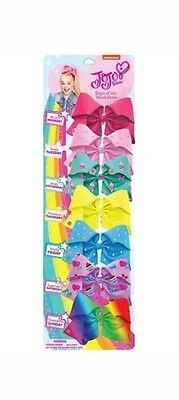 JOJO SIWA 8cm x 7 Bows For 7 Days A Week SIGNATURE GENUINE Hair Bows  🎀