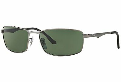 Ray-Ban Men's RB3498 004/71 Green Classic 64 mm Gunmetal Sunglasses