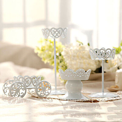 Hollow Designed Metal Steel Wedding Cupcake Dessert Iron Cake Stand Party Decor