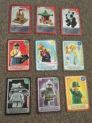 LEGO cards Create the World Collector cards Sainsburys x 9 (3 Shiny)