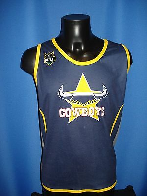 Vintage North Queensland Cowboys Rugby League Vest Shirt Size M Medium