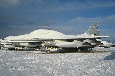 40 Aircraft Slide F-16A/B USA AMARG in snow!!!! 1/2007 unique!!!