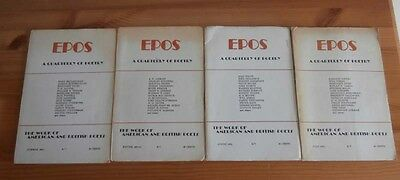 EPOS: A Quarterly of Poetry 1964 Complete Year - Bukowski, Charles; Ammons A.R.