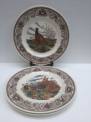 """Mason's Patent Ironstone Made In Engl Game  Bird Series X 3  Dinner Plates 10.5"""""""