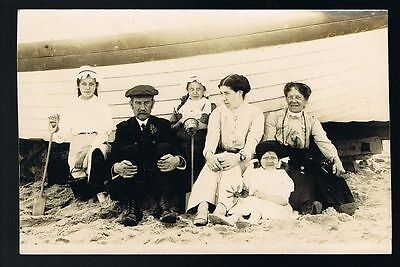 Day Out at the Seaside Family Photo Postcard  #8318