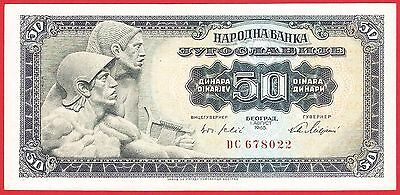Yugoslavia, 50 dinars from 1965. P-79a , (small serial numbers, Baroque),aUNC