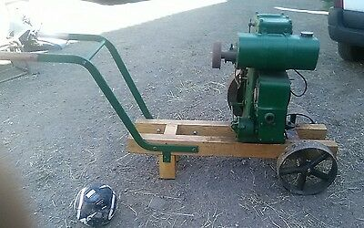 lister d stationary engine trolley
