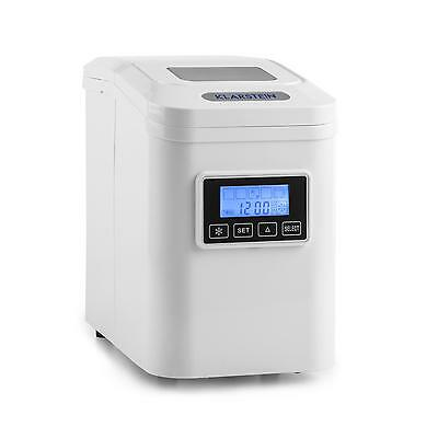 Powerful Ice Maker Machine Counter Top 10 Kg Per Day Home Drinks Bar Lcd White
