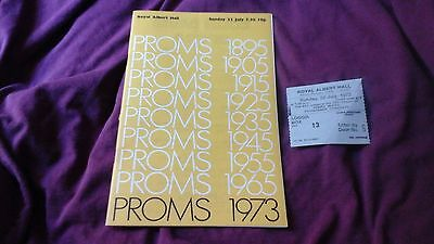 Beethoven - Fidelio  - Proms 1973 @ Royal Albert Hall  + Ticket