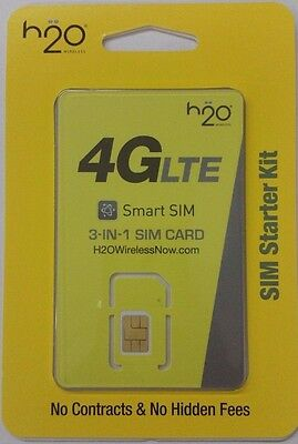 H2O 3 in 1 SIM PRELOADED w/ 2 MONTHS of $30 PLAN INCLUDED