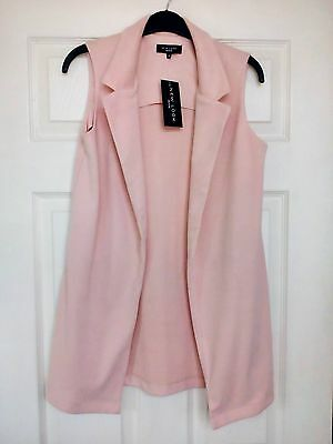 New Tags New Look Peach Waistcoat Long Jacket  Size 8  Petite