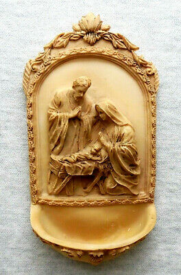 """Nativity Holy Water Font 6-1/4"""" x 3-1/4"""""""