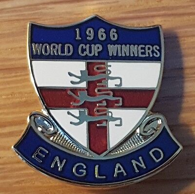 England 66 world cup shield football pin badge.