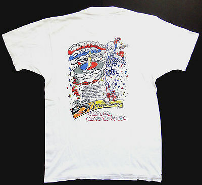 Grateful Dead Shirt T Shirt Vintage 1990 Summer Tour 25th Birthday Cake WALSTIB