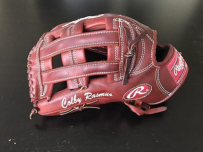 Colby Rasmus Game Issued Player Exclusive Fielding Glove Rawlings Gold Glove