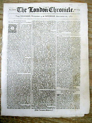 1769 newspaper early British occupation WEST FLORIDA + Negro troops NEW ORLEANS