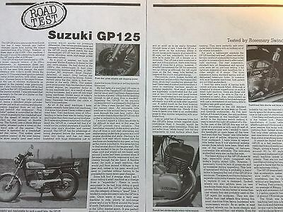 Suzuki Gp125 - Original 2.5 Page B/w 1985 Motorcycle Article / Road Test