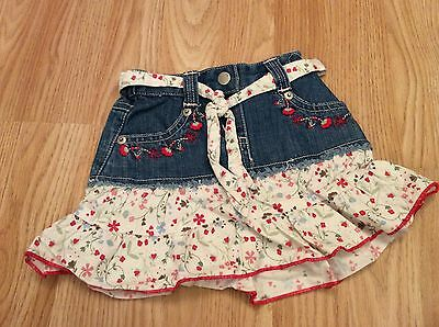 Jasper Conran Junior J Flower Skirt 9-12 Months