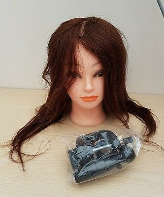 Hair Dressing Training Head. Long Hair. With Clamp